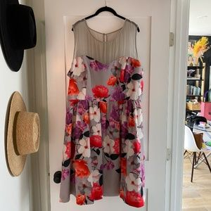 City Chic Floral Fit and Flare Dress